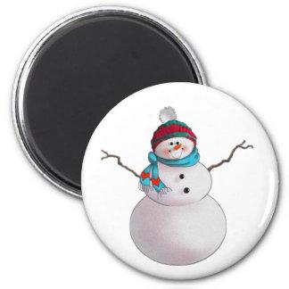 シャロンSHARPE著雪だるま、スカーフ及びストッキング帽子 マグネット