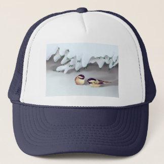 シャロンSHARPE著雪の鳥 キャップ