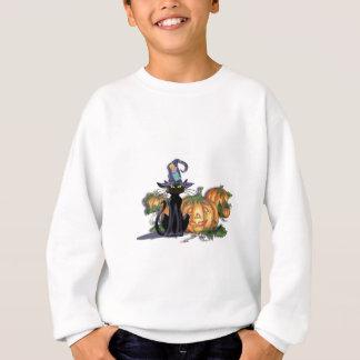 シャロンSHARPE著黒猫、帽子及びジャック スウェットシャツ