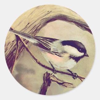 シャロンSHARPE著1匹の小さい《鳥》アメリカゴガラ ラウンドシール