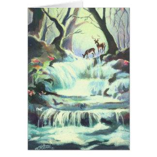 シャロンSHARPE著2頭のシカの入り江 カード