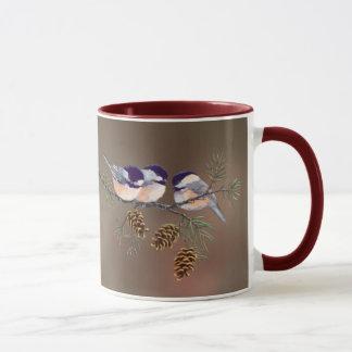 シャロンSHARPE著3つの《鳥》アメリカゴガラ及び円錐形 マグカップ