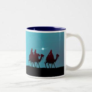 シャロンSHARPE著3つのWISEMEN及び星 ツートーンマグカップ