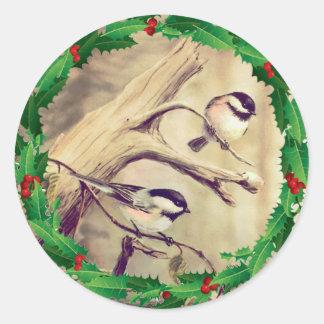 シャロンSHARPE著《鳥》アメリカゴガラ及びヒイラギ ラウンドシール