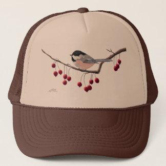 シャロンSHARPE著《鳥》アメリカゴガラ及び赤い果実 キャップ
