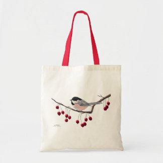 シャロンSHARPE著《鳥》アメリカゴガラ及び赤い果実 トートバッグ