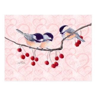 シャロンSHARPE著《鳥》アメリカゴガラ及び赤い果実 ポストカード