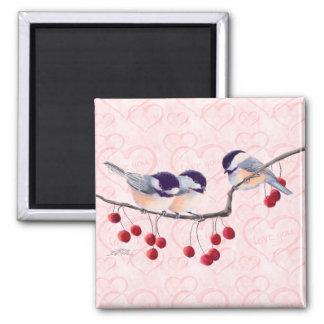 シャロンSHARPE著《鳥》アメリカゴガラ及び赤い果実 マグネット