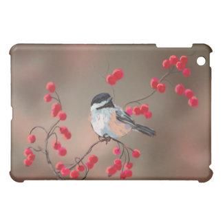 シャロンSHARPE著《鳥》アメリカゴガラ及び赤い果実 iPad MINI カバー