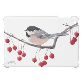 シャロンSHARPE著《鳥》アメリカゴガラ及び赤い果実 iPad MINI CASE