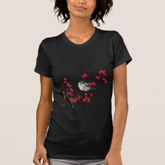 シャロンSHARPE著《鳥》アメリカゴガラ及び赤い果実 Tシャツ