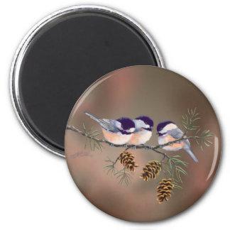 シャロンSHARPE著《鳥》アメリカゴガラ及びPINECONES マグネット