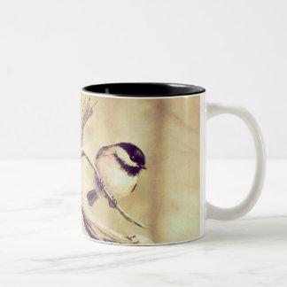 シャロンSHARPE著《鳥》アメリカゴガラ ツートーンマグカップ
