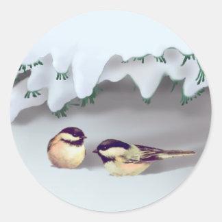 シャロンSHARPE著(鳥)ショウジョウコウカンチョウ ラウンドシール