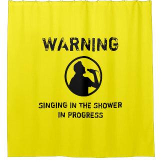 シャワーのおもしろいなカーテンで歌うことの警告 シャワーカーテン