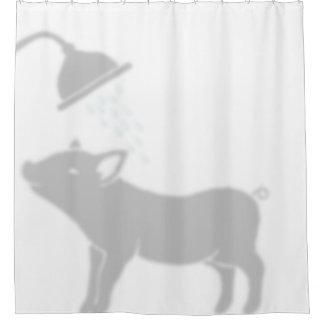 シャワーの影の相棒のブタ シャワーカーテン