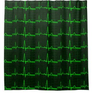 シャワー・カーテンのためのcardiogramのecgパターン シャワーカーテン