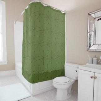 シャワー・カーテンの世紀半ばのモダンなスターバストパターン シャワーカーテン