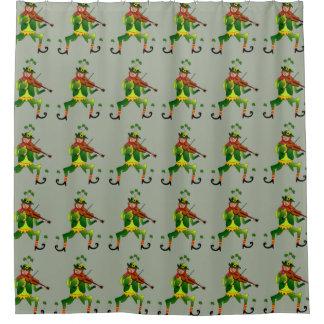 シャワー・カーテンの幸運な小妖精パターン シャワーカーテン