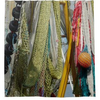 シャワー・カーテンの抽象芸術のビーチの漁網 シャワーカーテン