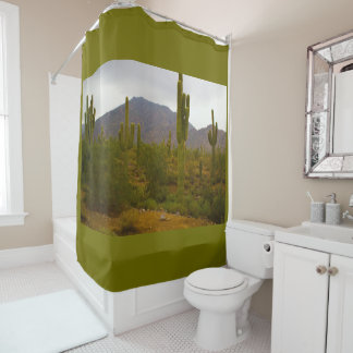 シャワー・カーテンの明るいSahuaroのサボテン シャワーカーテン