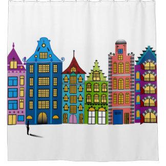 シャワー・カーテンの都市通りの民芸 シャワーカーテン