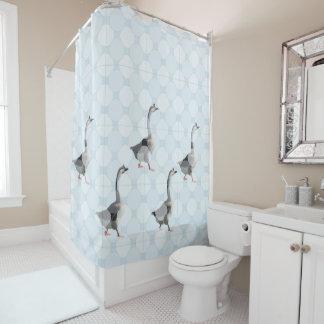 シャワー・カーテン-ガチョウおよび点 シャワーカーテン