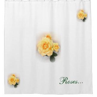 シャワー・カーテン-美しい黄色バラ シャワーカーテン