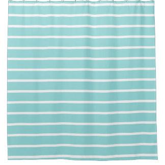 シャワー・カーテン-貝の水のファッションは縞で飾ります シャワーカーテン