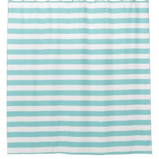 シャワー・カーテン-貝の水の夏は縞で飾ります シャワーカーテン