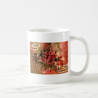 シャンデリアのシャンペンのピンク コーヒーマグカップ