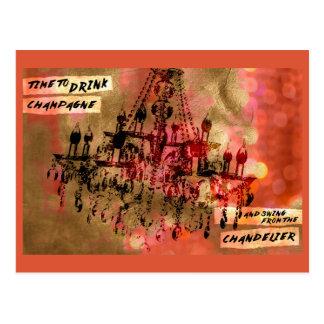 シャンデリアのシャンペンのピンク ポストカード