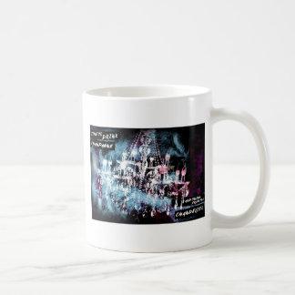 シャンデリアのシャンペンの黒 コーヒーマグカップ