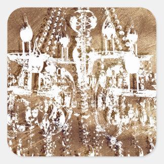 シャンデリアの銅の上品 スクエアシール