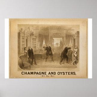 シャンペンおよびカキのレトロの劇場 ポスター