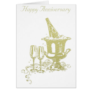 シャンペンおよびガラスの芸術 カード