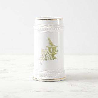 シャンペンおよびガラスの芸術 ビールジョッキ
