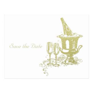シャンペンおよびガラスの芸術 ポストカード