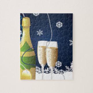 シャンペンが付いているカード ジグソーパズル