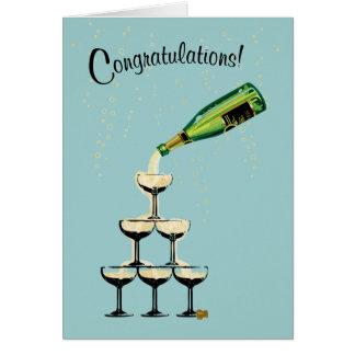 シャンペンのお祝いカード カード
