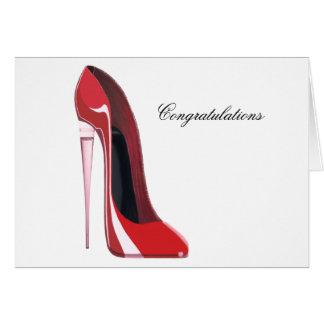 シャンペンのかかとの赤い小剣の靴の芸術 カード