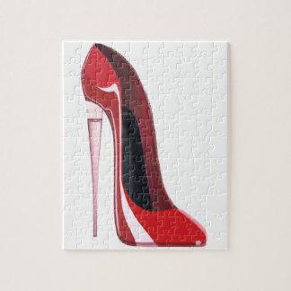 シャンペンのかかとの赤い小剣の靴の芸術 ジグソーパズル