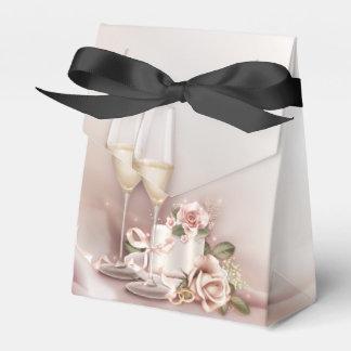 シャンペンのエレガントな結婚式 フェイバーボックス
