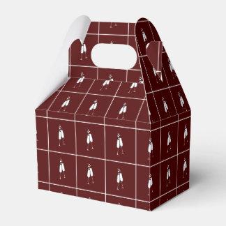 シャンペンのガラスギフト用の箱 フェイバーボックス