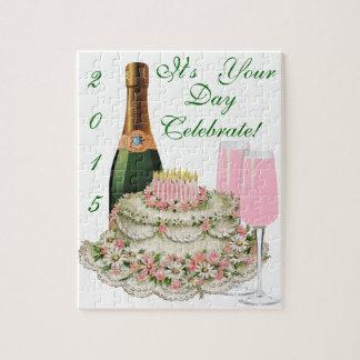 シャンペンのトーストの誕生日 ジグソーパズル