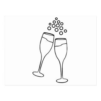 シャンペンのトースト ポストカード