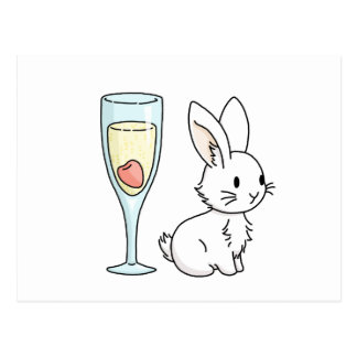 シャンペンのバニー ポストカード