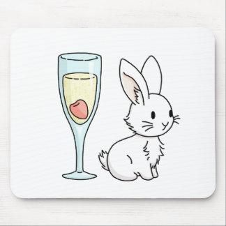 シャンペンのバニー マウスパッド