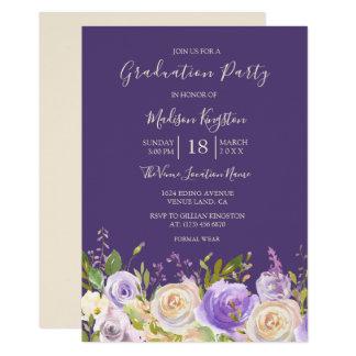 シャンペンのバラの紫色によっては卒業パーティーが開花します カード