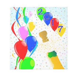 シャンペンのパーティ2017年 ノートパッド